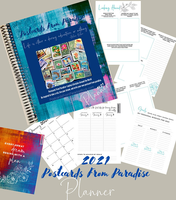 Postcards From Paradise Planner