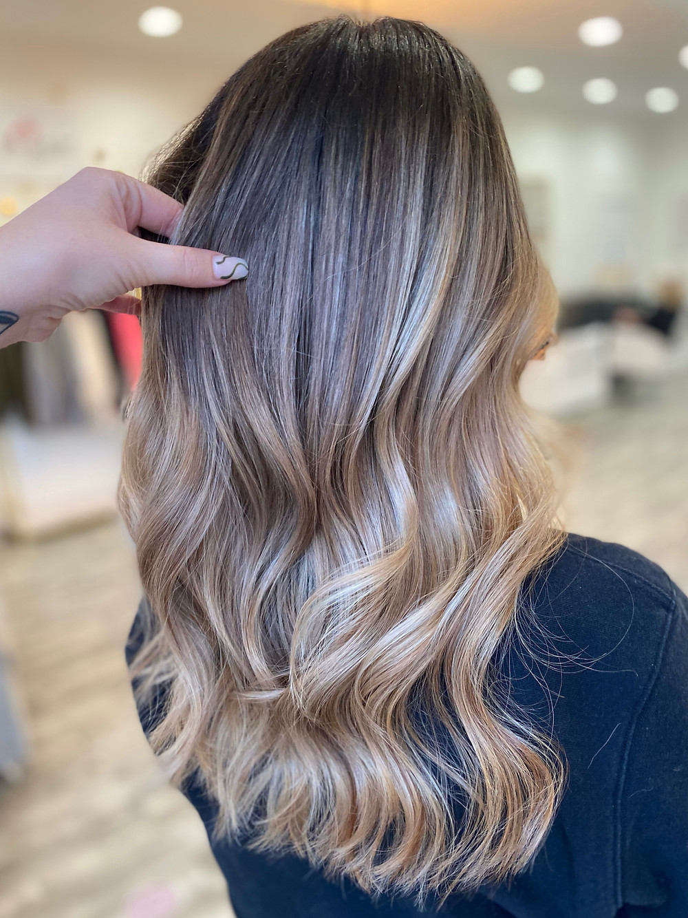 Full Balayage - Brunette to Soft Beige Blonde - Parma Ohio