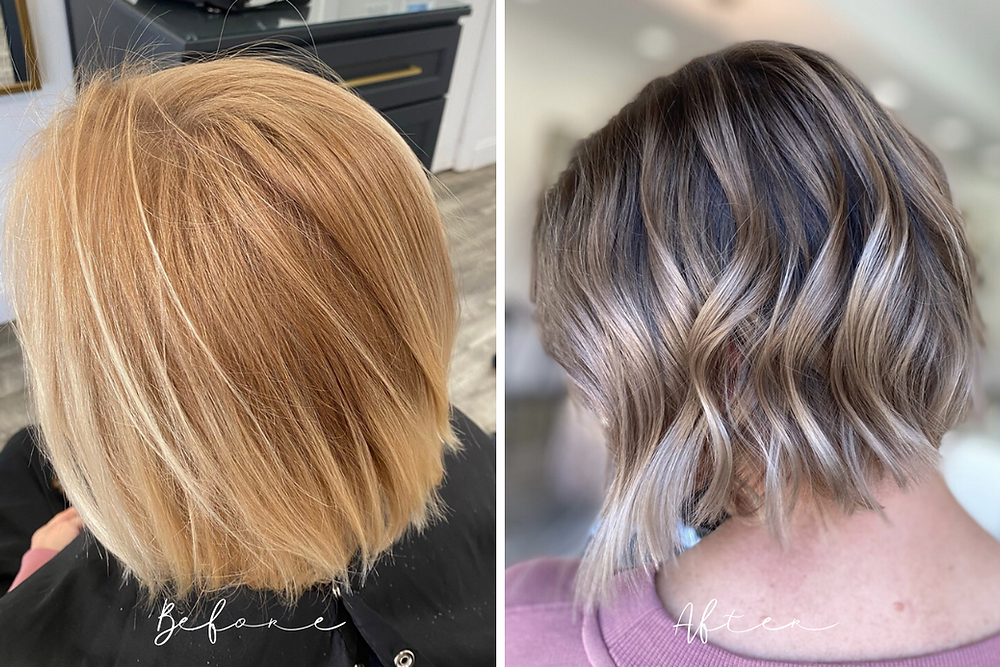 Before and After - Root Smudge Color - Avon Ohio