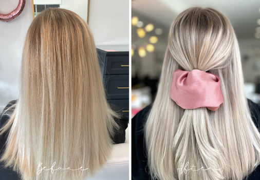 Full Highlight - How we took this Brassy Hair and made it Ashy!