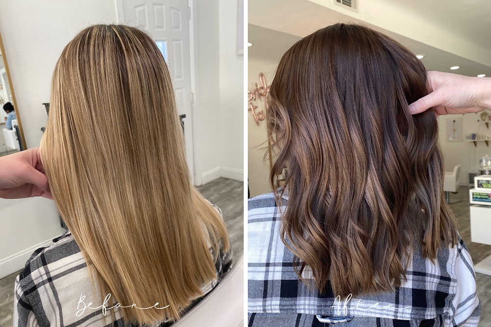 From Blonde Hair to Brown Hair - Rocky River, OH