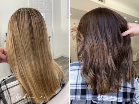 From Blonde to Brown Hair - Fall Hair Color with Dimension