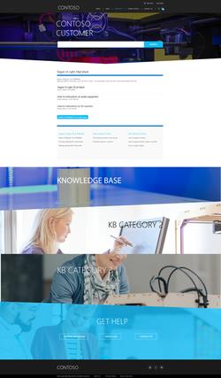 Customer Home Page