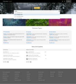 Abstract Colors Theme