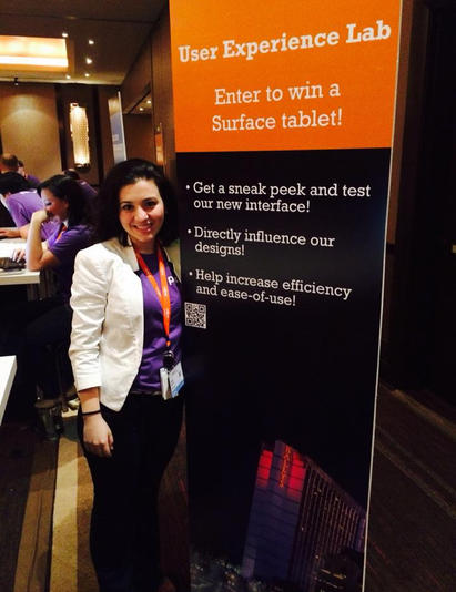 User Testing Booth at Company Conference