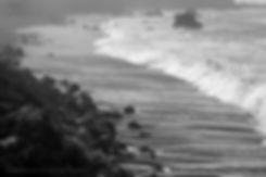Advancing and receding shoreline at Big Sur, California
