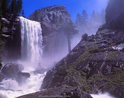 The Mist Trail in Yosemite National Park is seen near Vernal Falls and the Merced River
