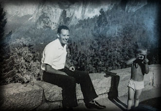 A picture of a young Fred Benz and his father in Yosemite National Park