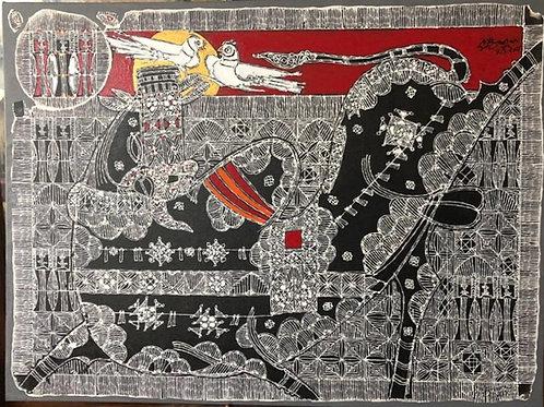 Acrylic on Canvas by G. Raman
