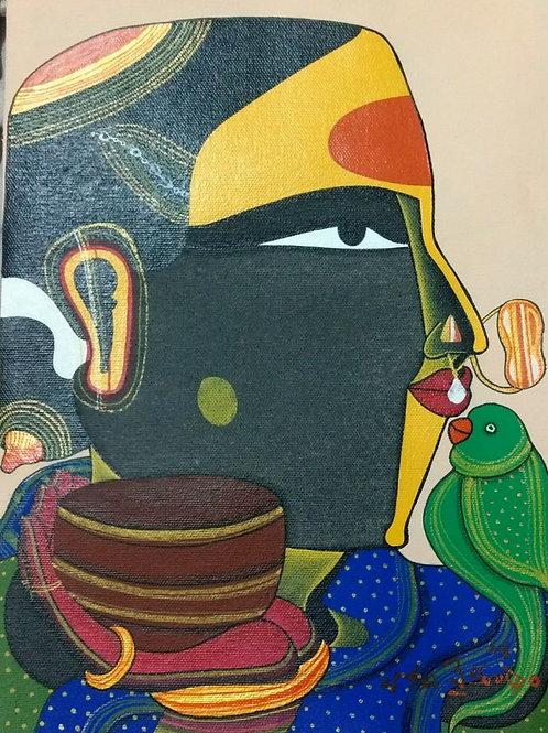 Acrylic on Canvas by T. Vaikuntam