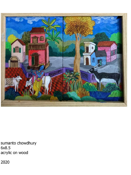 Acrylic on Wood   by Sumanto Chowdhury