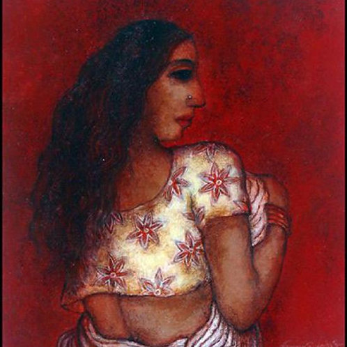 Mixed Media on Paper by Biswapati Maiti