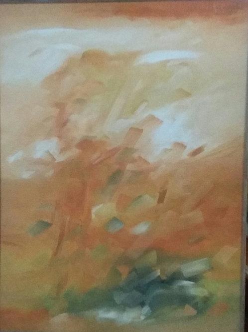 Acrylic on Canvas by A. Viswam