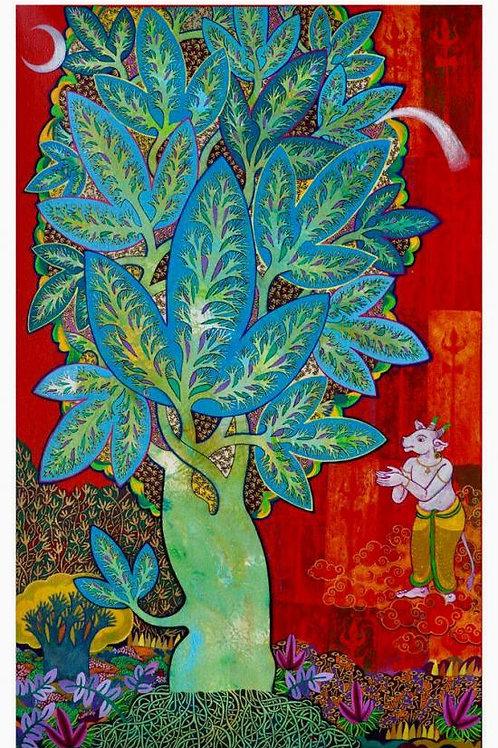 Acrylic on Canvas by Chandra Morkonda