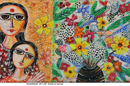 Mixed Media on Canvas  by K . Muralidharan