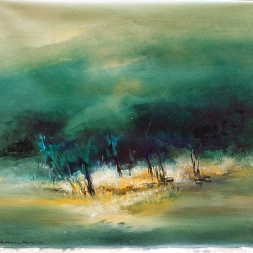 Oil paining on canvas by K C Murukeson