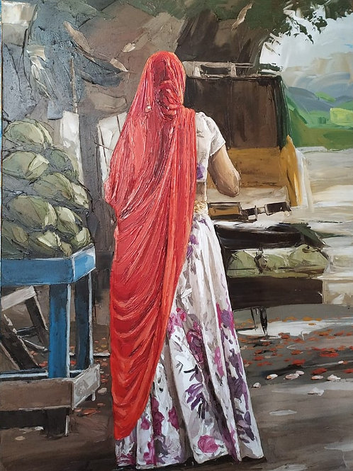 Oil paining on canvas by Rama Suresh