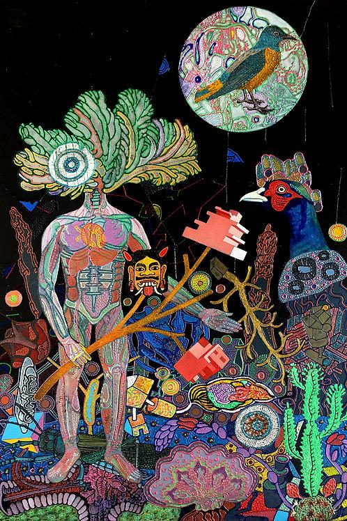 Mixed Media on Canvas  by Joydip Sengupta