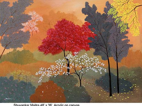 Acrylic on Canvas by Shuvankar Maitra