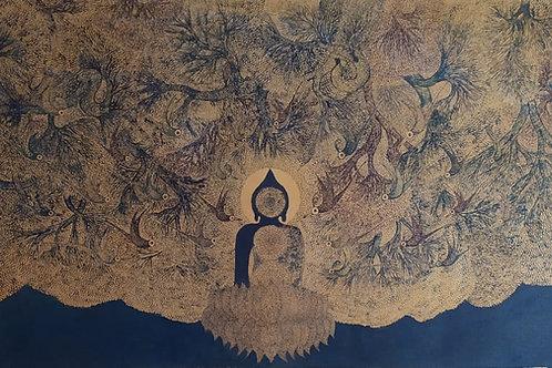 Acrylic on Canvas by Bodhiselvam