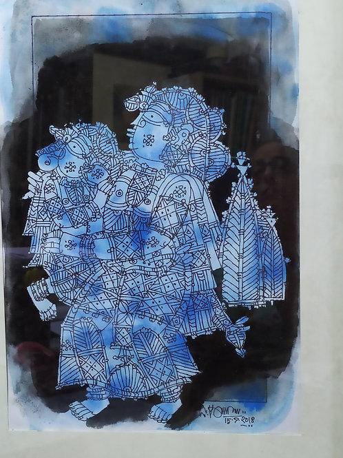 Ink on Paper by G. Raman