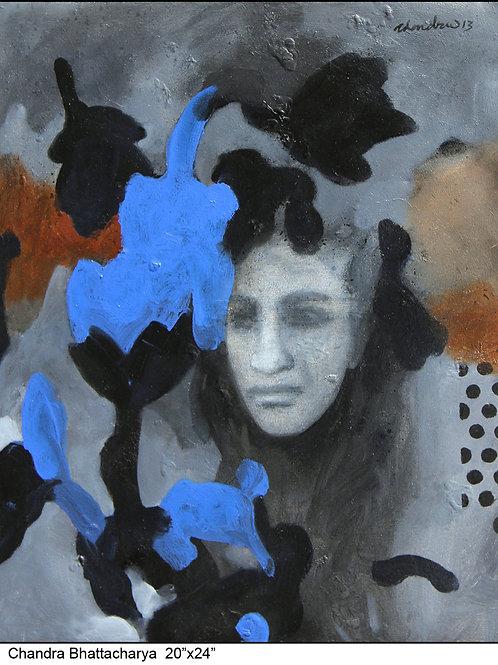 Acrylic on Canvas by Chandra Bhattacharya