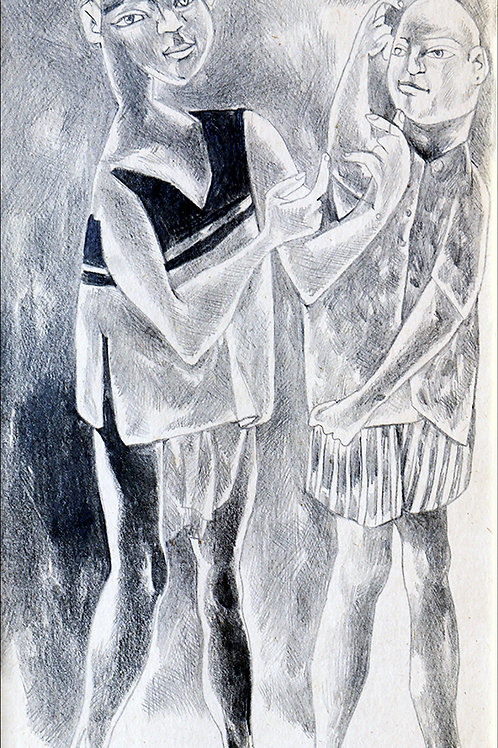 Pencil On Paper by K Laxma Goud