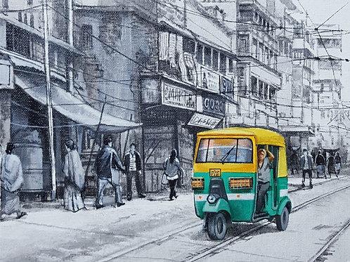 Acrylic on Canvas  Board by Amlan Dutta