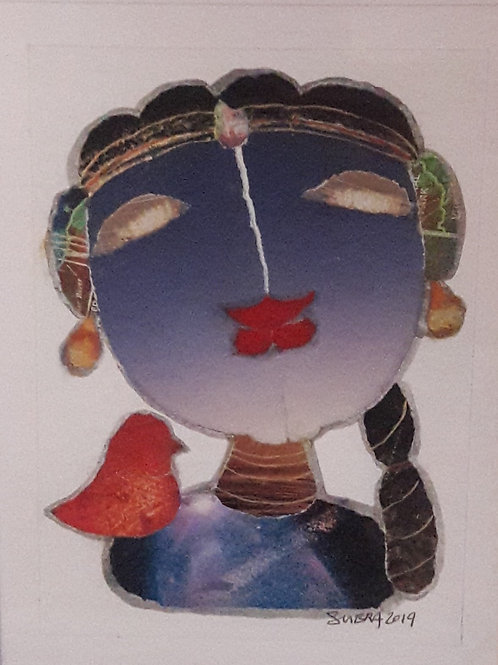 Mixed Media on Canvas  by Subramanian Gopalsamy