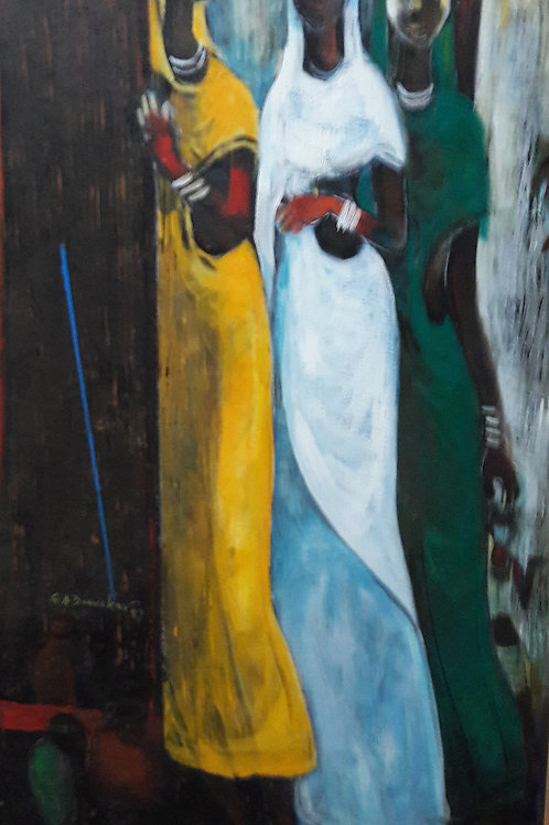 Acrylic on Canvas by G. A. Dandekar