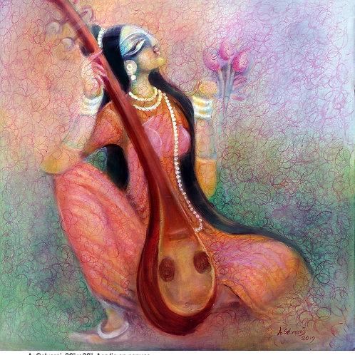Acrylic on Canvas by A. Selvaraj