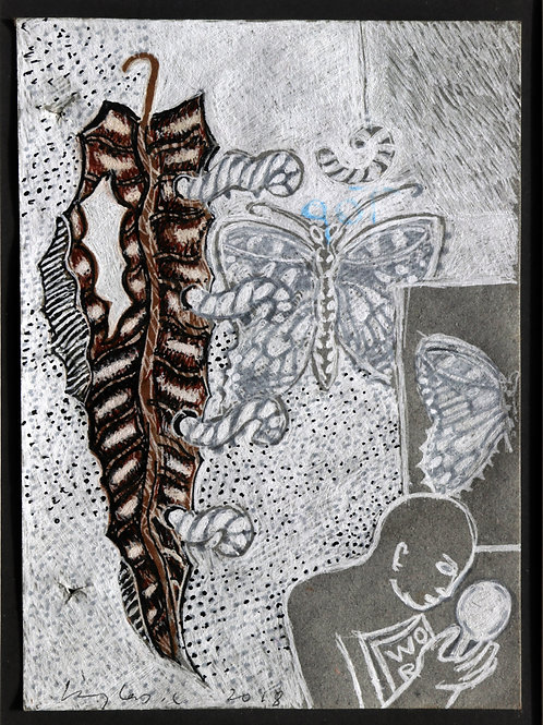 Mixed Media on Paper by C. Douglas