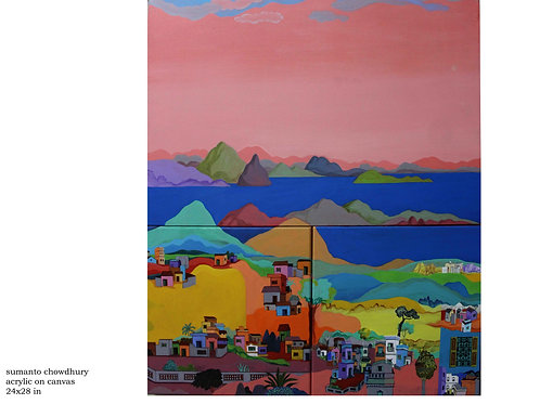 Acrylic on Canvas by Sumanto Chowdhury