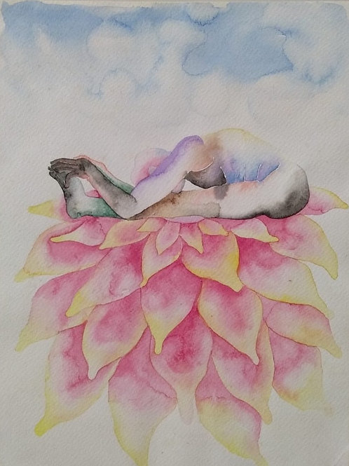Watercolour on Paper  by BO. Shailesh