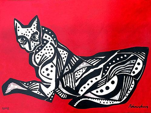 Cat by  RB. Bhaskaran
