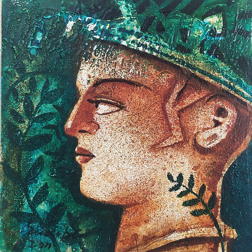 Acrylic on Paper by Sudipto Tewari