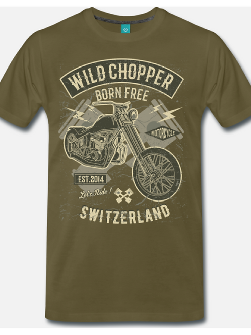 TSHIRT BORN FREE BROWN