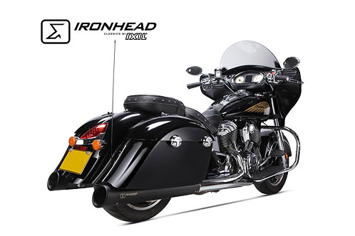 Ironhead exhaust Indian Chief Black