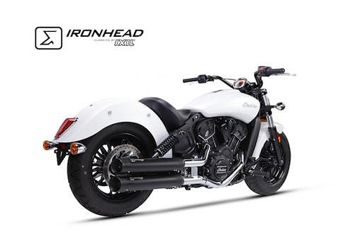 Ironhead exhaust Indian Scout Black