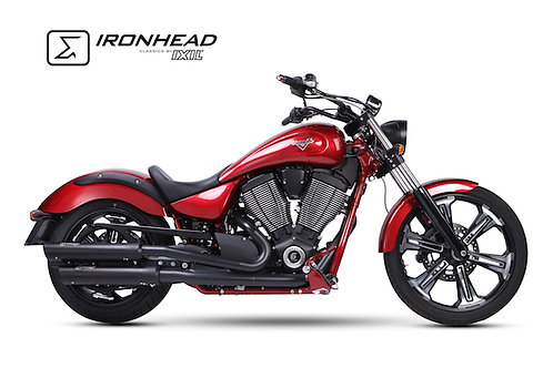 Ironhead exhaust Victory Vegas Black