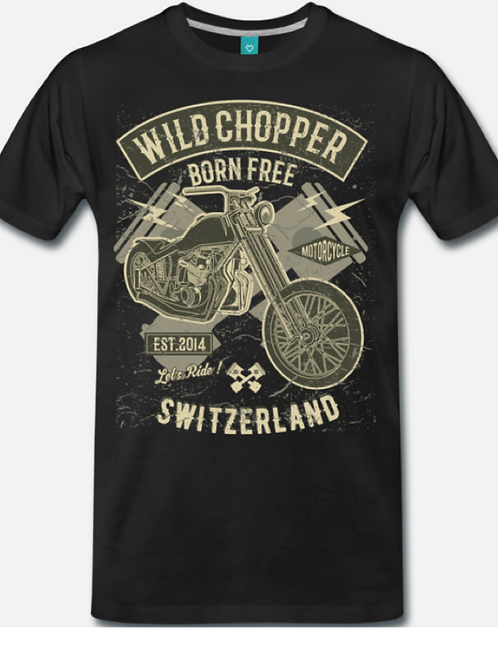 TSHIRT BORN FREE BLACK