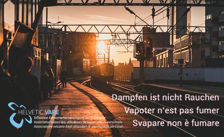 Stazioni FFS: Proteggete la vostra salute, non andate nelle zone fumatori per svapare