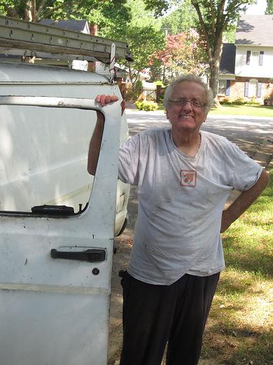Rob Jolly by his van