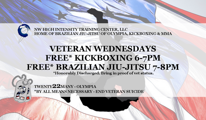 Veteran Wednesdays @ BJJ of Olympia - NW HIT Center, LLC