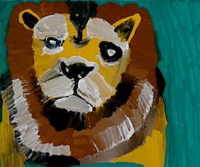 無垢の目ライオン