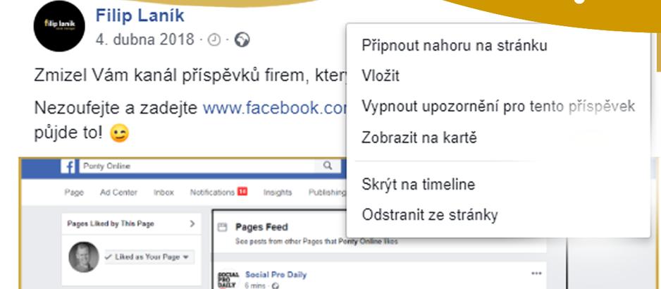 Jak upravit Facebook příspěvek, na který jsme spustili reklamu (v rychlosti)