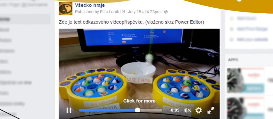 Jak vložit na FB stránku odkazový videopříspěvek?