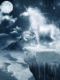 unicorn-standing-cliff-ice-covered-54873
