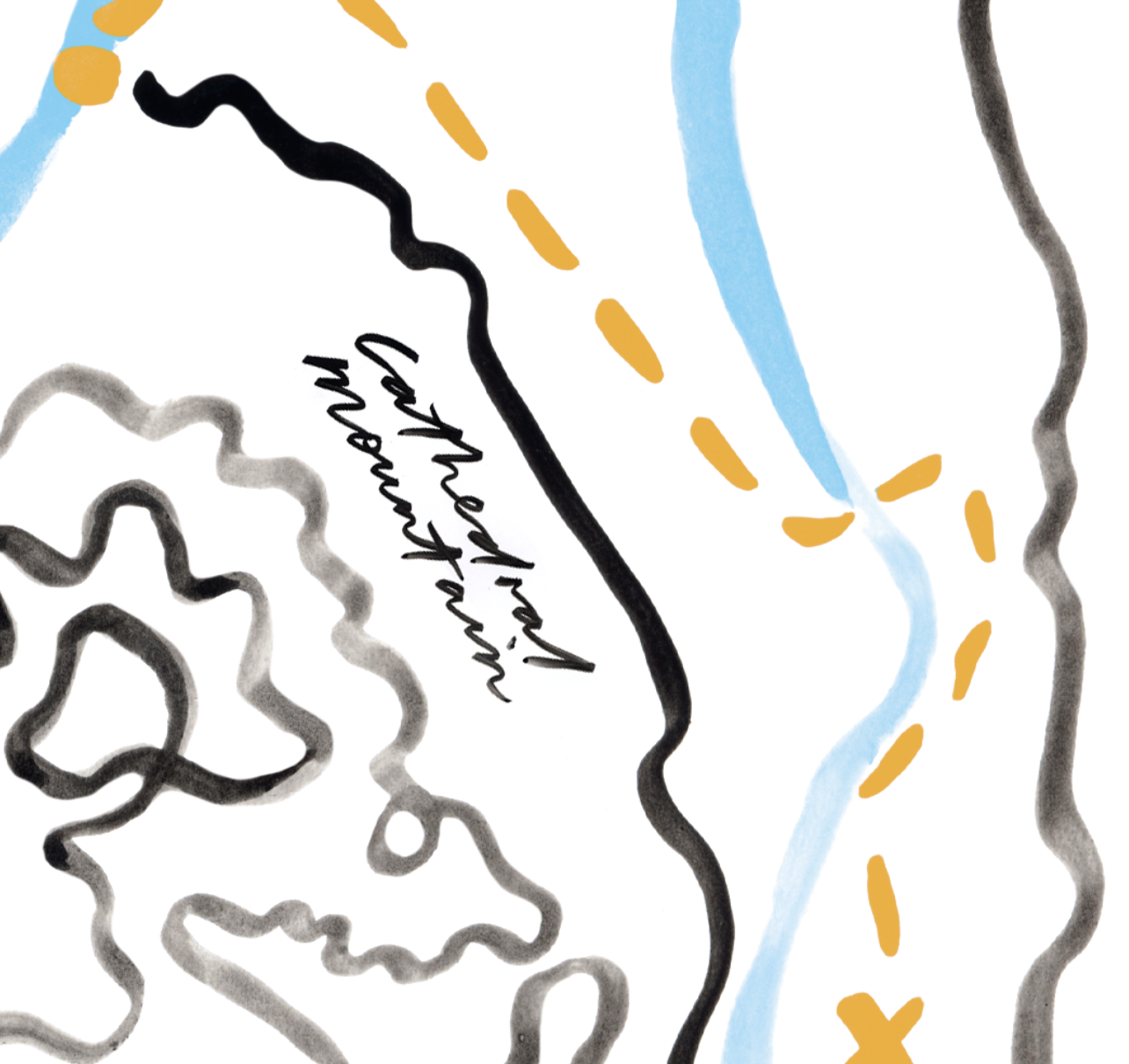 Cathedral Mountain Map