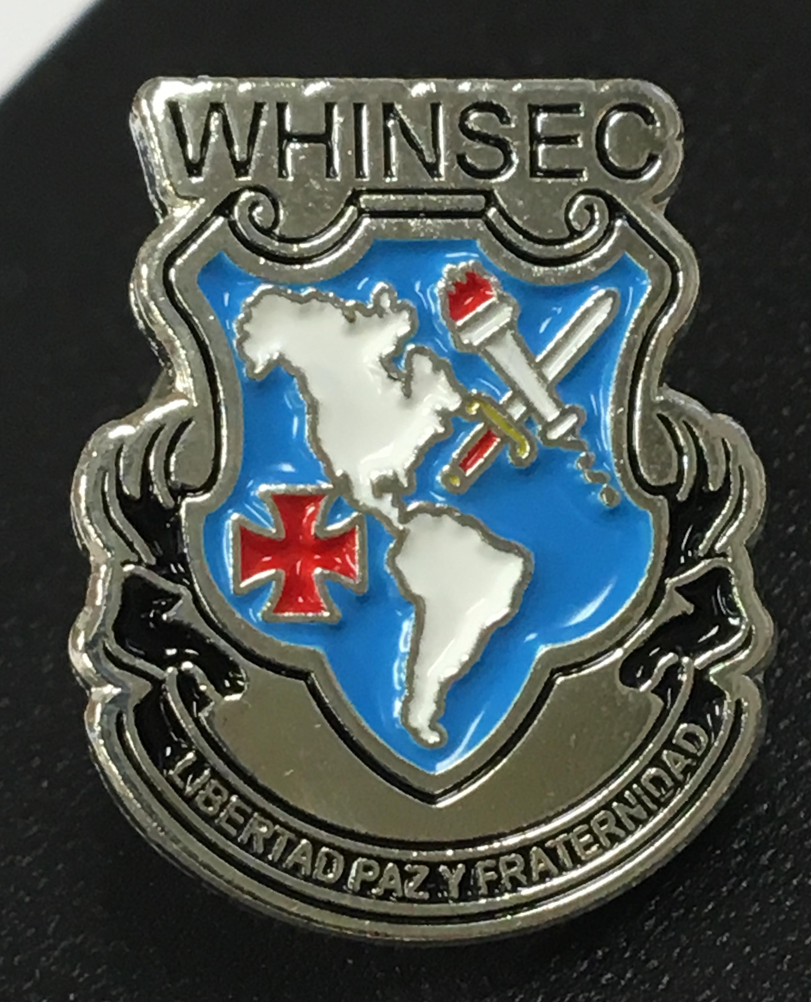 whinsec lapel pin
